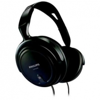 PHILIPS HEADPHONES SHP2000, speaker diameter - 40 mm, frequency 15-22000Hz, 3,5-6,3mm jack/MUSIC, PC, TV/BLACK Laidinės ausinės