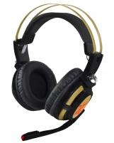 Ausinės Stereo GAMING ausinės su mikrofonu X-Zero X-H359KG juodai aukso sp.