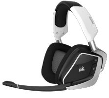 Ausinės Žaidimų ausinės Corsair Void Pro RGB, Bevielės, Dolby 7.1, Baltos (EU)