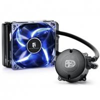 Aušintuvas Maelstorm 120T, universal cpu liquid cooler, 120mm radiator,  blue PWM LED fan
