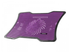 Aušintuvas NATEC laptop cooling pad MACAW Purple (12,1-15,6) silent fan with LED backli