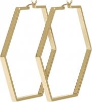 Auskarai Cluse Hexagon gilt earrings CLJ51003 Auskarai