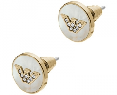 Auskarai Emporio Armani Luxurious gold-plated earrings with pearls EGS2354710