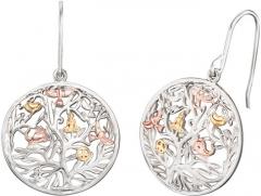 Auskarai Engelsrufer Silver tricolor earrings Tree of Life ERE-TREE-TRICO Auskari