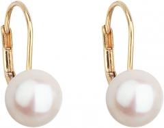 Auskarai Evolution Group Gold Pendant Earrings with True Pearls Pavon 921009.1 Auskari