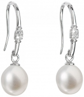 Auskarai Evolution Group Silver earrings with pearls 21030.1