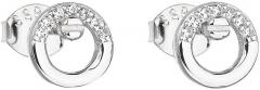 Auskarai Evolution Group Silver stud earrings with zircon white round 11016.1 Auskarai
