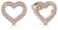 Auskarai Guess Glitter heart earrings UBE28005 Auskarai