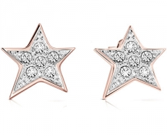 Auskarai Guess Glittering star earrings UBE82015