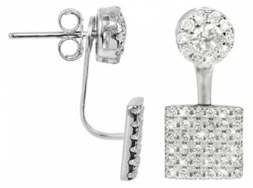 Auskarai JwL Luxury Pearls Elegant dvojnáušnice zircon JL0198
