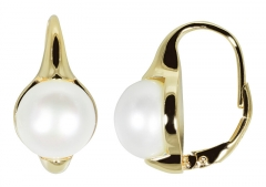 Auskarai JwL Luxury Pearls Gold-plated earrings with real pearls JL0532 Auskarai