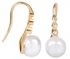 Auskarai JwL Luxury Pearls Gold plated silver earrings with JL0411 right pearl Auskarai