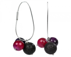 Auskarai JwL Luxury Pearls Silver earrings Ellipse pendants JL0153