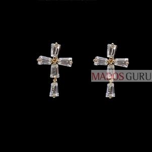 """Earrings """"Crosses'' A260"""