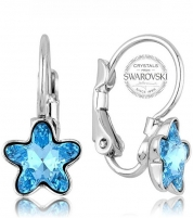 Auskarai Levien Girl´s earrings with turquoise STARBLOOM crystal Auskarai