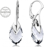 Auskarai Levien Shimmering Pear Metcap Crystal Earrings Auskarai
