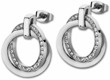 Auskarai Lotus Style Steel earrings with crystals LS1780-4 / 1