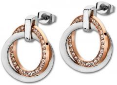 Auskarai Lotus Style Steel earrings with crystals LS1780-4 / 2