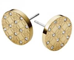 Auskarai Michael Kors Pozlacené luxusní náušnice s krystaly MKJ4276710