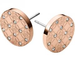 Auskarai Michael Kors Pozlacené luxusní náušnice s krystaly MKJ4277791