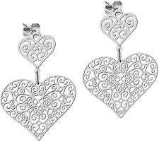 Auskarai Morellato Earrings filigree heart Arie SALT04 Auskarai