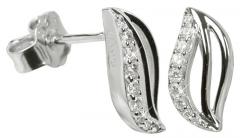 Auskarai Silver Cat Stříbrné náušnice s krystaly SC039 Auskari