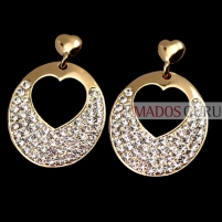 "Earrings ""Hearts'' A183"