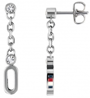 Auskarai Tommy Hilfiger Crystal earrings with crystal TH2780088