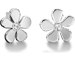 Auskarai Tommy Hilfiger Flower earrings with crystals TH2700936