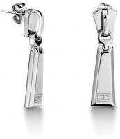 Auskarai Tommy Hilfiger Ocelové náušnice ve tvaru zipu TH2700724 Auskari