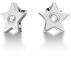 Auskarai Tommy Hilfiger Steel earrings with crystal stars TH2700842
