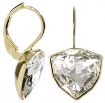 Auskarai Troli Zlaté náušnice Trilliant Crystal Earrings