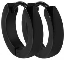 Auskarai Troli Black steel earrings rings Earrings