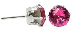 Auskarai Troli French stones earrings Chaton Fuchsia