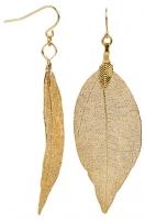 Auskarai Troli Gold-plated earrings Laurel leaves Laurel Auskarai