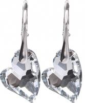 Auskarai Troli Náušnice Heart D2Y Crystal Earrings