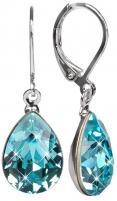 Auskarai Troli Náušnice Pear 14 mm Light Turquois Earrings