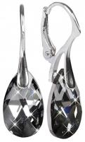 Auskarai Troli Náušnice Pear 16 mm Silvernight Earrings