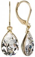 Auskarai Troli Náušnice Pear Crystal Earrings