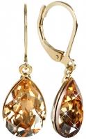Auskarai Troli Náušnice Pear Golden Shadow Earrings