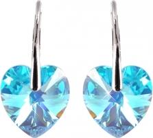 Auskarai Troli Náušnice Srdce Aqua AB Earrings