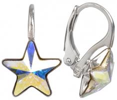 Auskarai Troli Dívčí náušnice Star 10 mm Crystal AB Earrings