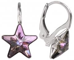 Auskarai Troli Dívčí náušnice Star 10 mm Vitrail Light Earrings