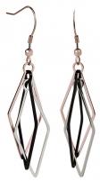 Auskarai Troli Three-color steel earrings