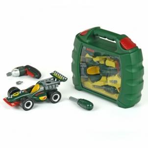 Automechaniko rinkinys su mašina ir Ixolino atsuktuvu lagamine | Bosch | Klein Toys for boys