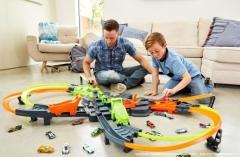 Automobilių trąsa GFH87 Mattel Hot Wheels Colossal Crash Track Set Auto racing dziesmas bērniem