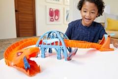 Automobilių trąsa GJK88 Hot Wheels Viper Bridge Attack Play Set