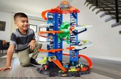 Automobilių trąsa GJL14 Hot Wheels City Robo T-Rex Ultimate Garage Multi-Level