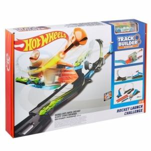 Automobilių trasa Mattel Hot Wheels FLK60 Hot Wheels Stunt Builder Raketenstart-Challenge