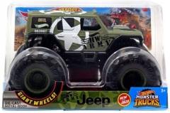 Automobiliukas FYJ83 / GJG71 Hot Wheels Monster Trucks - HW Army Jeep